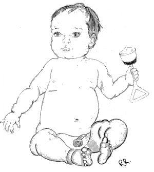 Uncircumcised baby boy